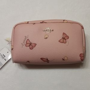 Coach Boxy Cosmetic Case Pink Butterfly